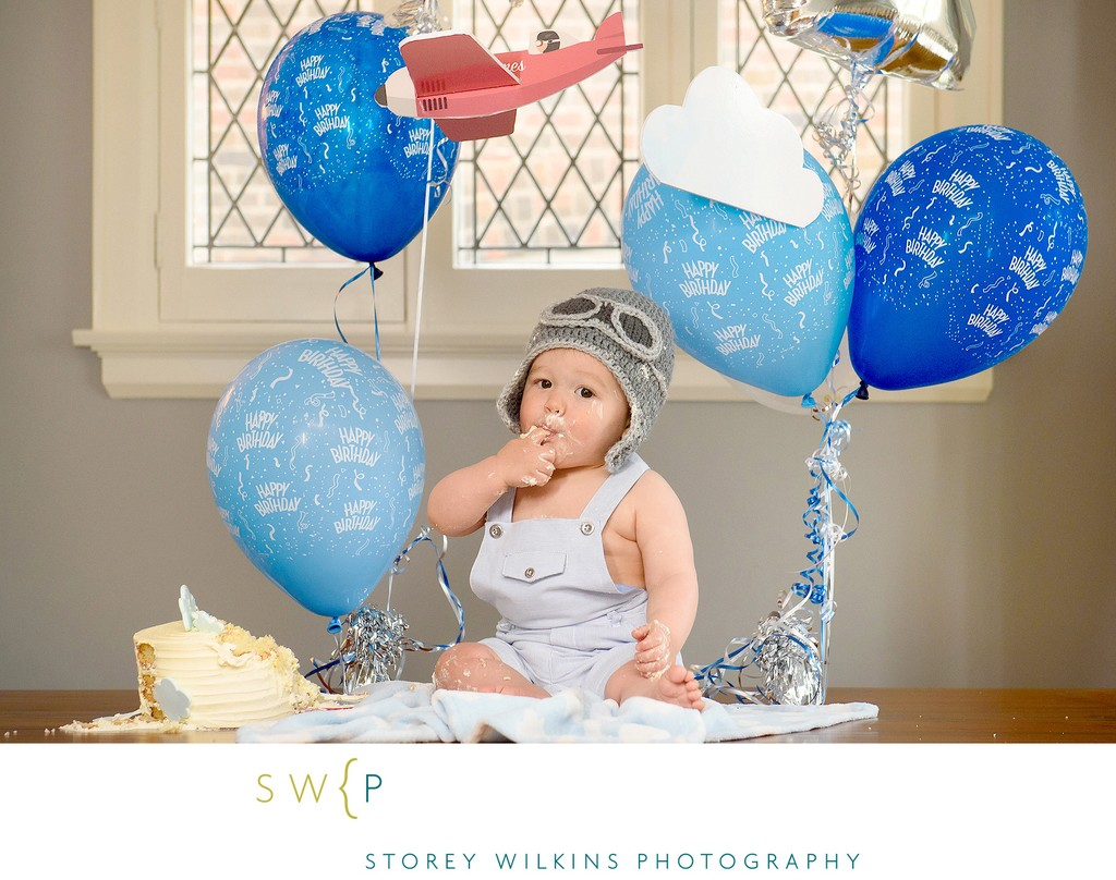 Baby's First Birthday Aeroplane Theme