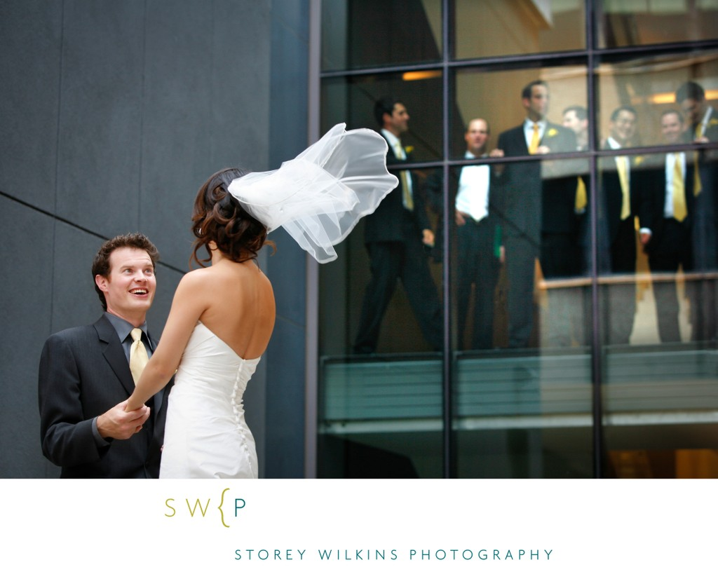 Gardiner Museum Wedding Portrait Outside the Building