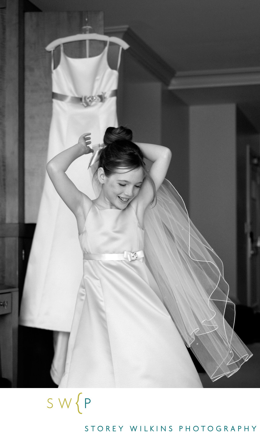Flower Girl Getting Ready at InterContinental Yorkville