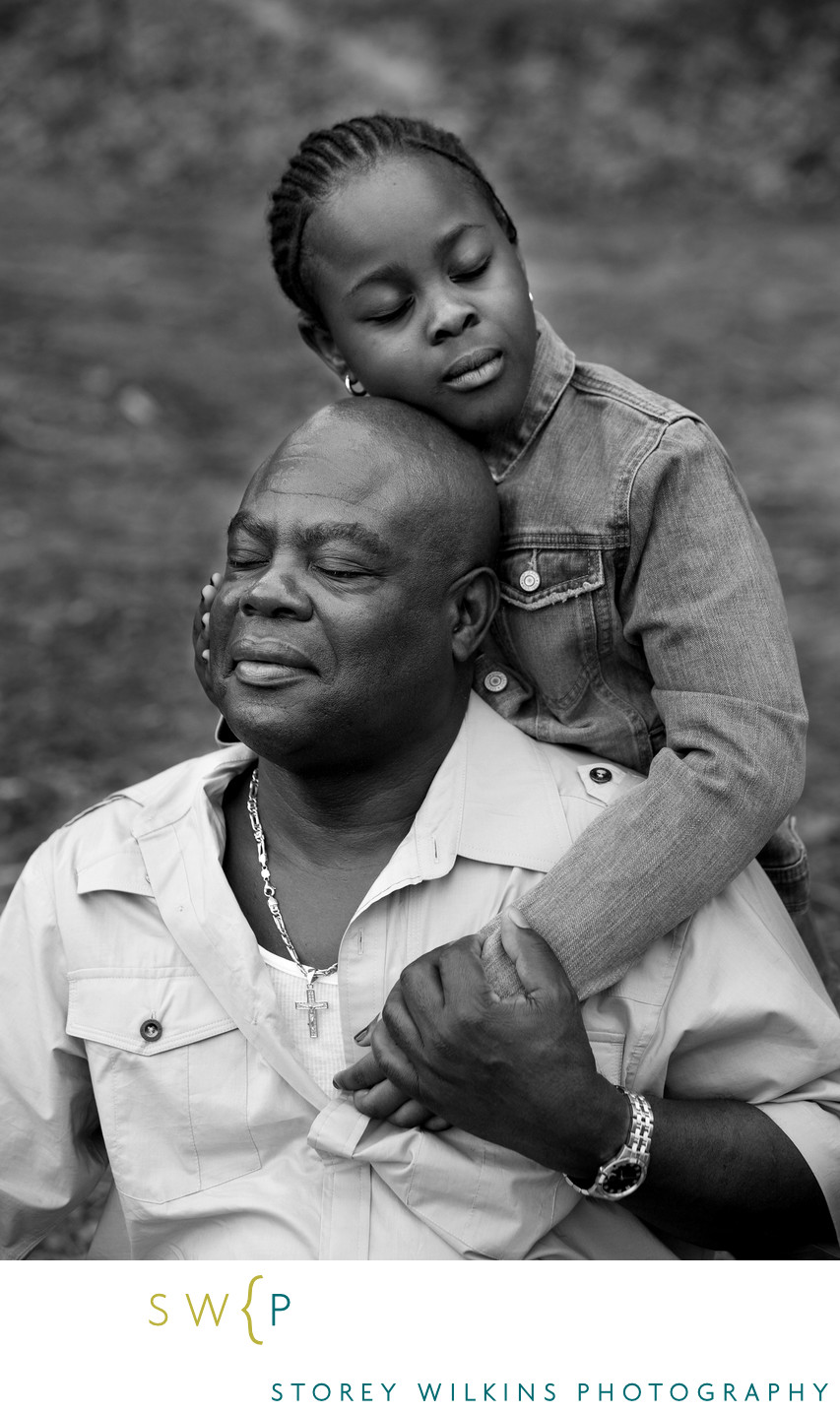 Special Portrait of Father & Daughter by Storey Wilkins
