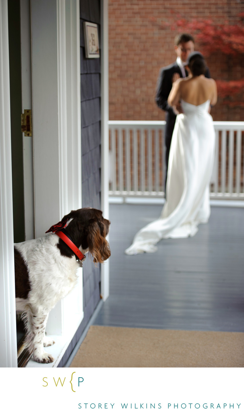 Lytton Park Wedding with First Glance on the Porch