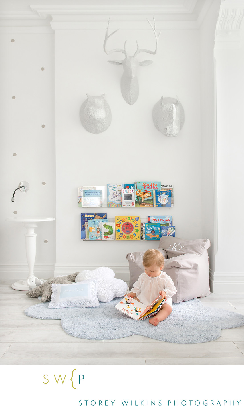 A Modern Chic Baby's Room in Toronto