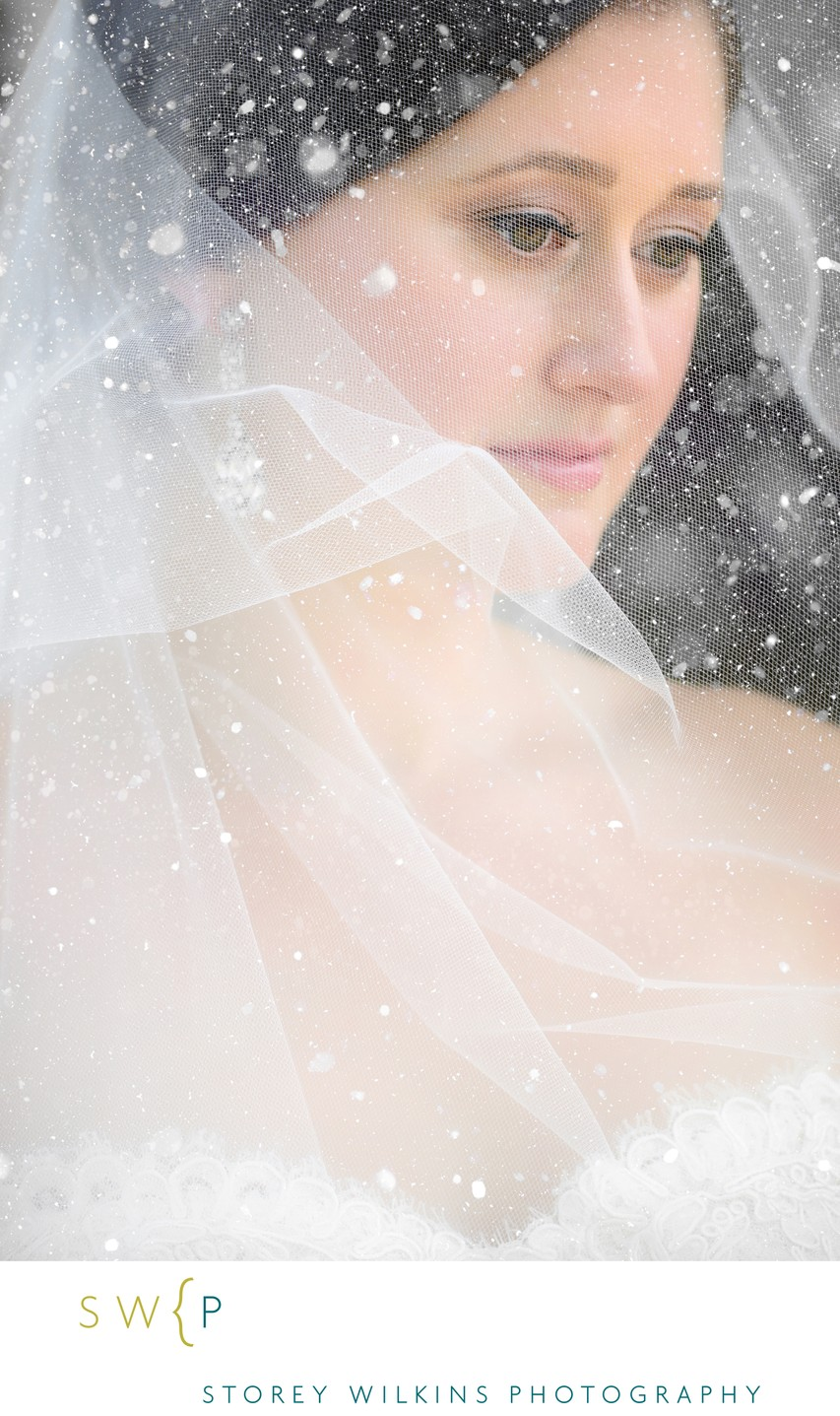 Creative Portrait of the Bride on her Wedding Day