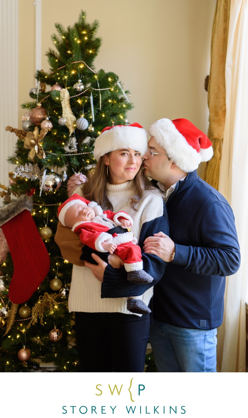 Newborn Portrait Christmas Tree