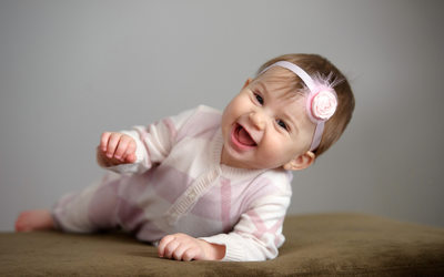 Storey Wilkins Photography Baby Portrait with Laughter