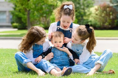 Baby Brother with Three Sisters