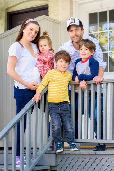Fun Family Porch Portrait in Seaton Village