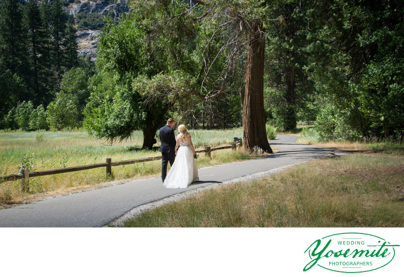 wedding couple, cooks meadow, yosemite