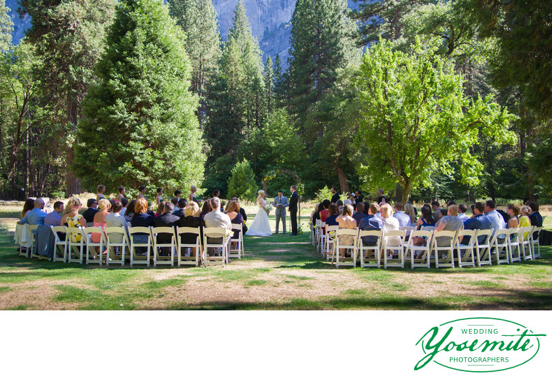 Majestic Yosemite Hotel Wedding lawn