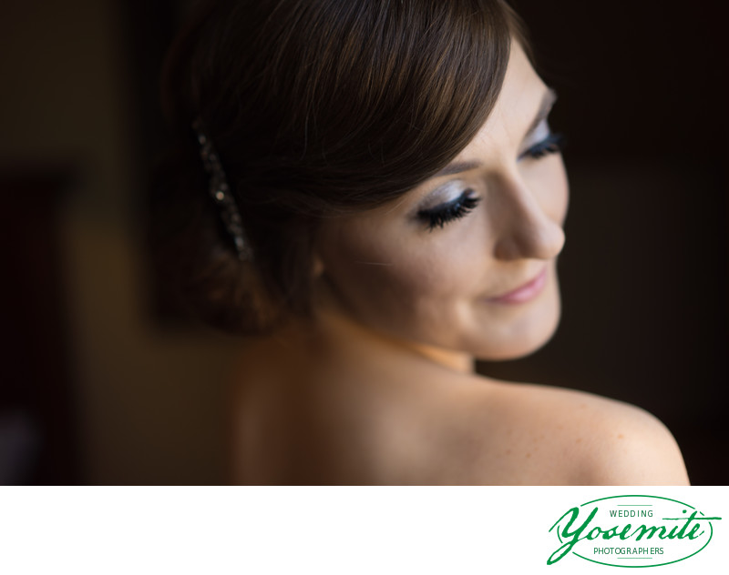 Bride Prepares For Wedding Day At Tenaya Lodge