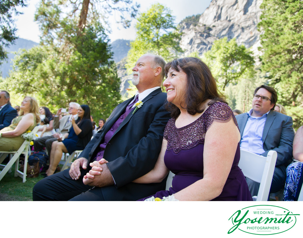 Wedding ceremony snapshot Ahwahnee hotel