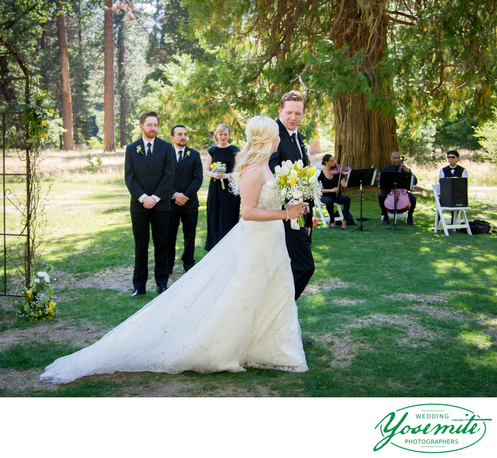 wedding processional yosemite