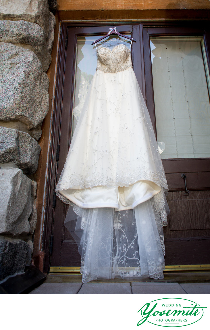 Wedding Dress Ahwahnee Hotel