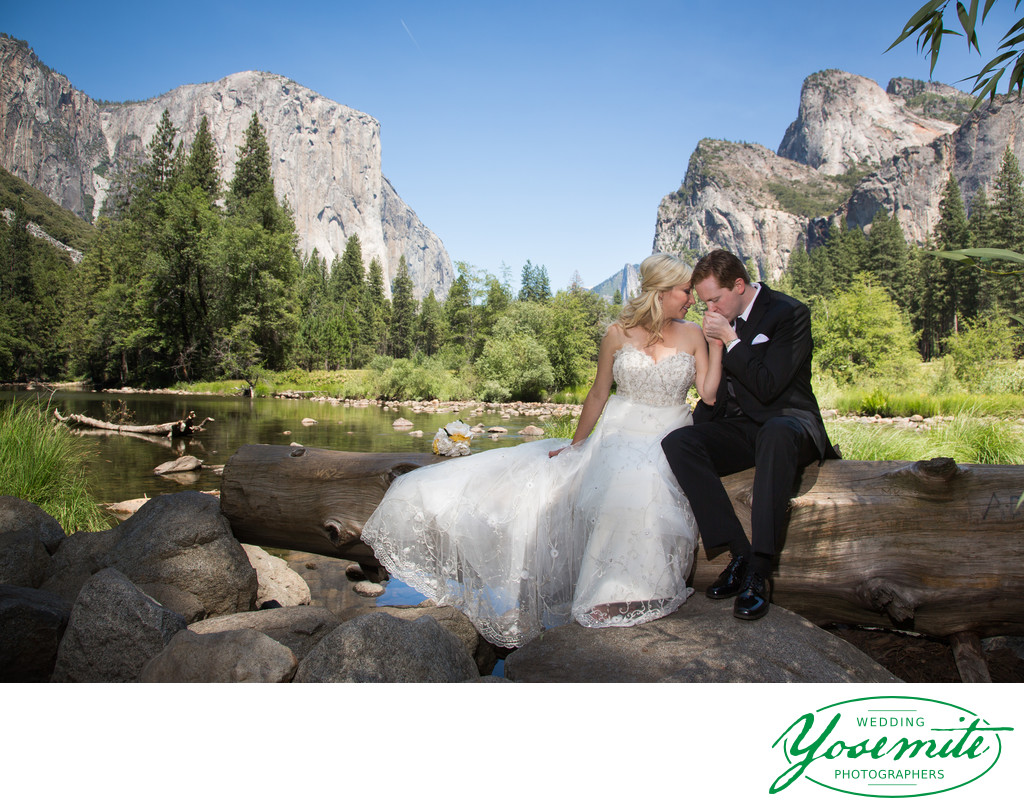 Wedding Couple Valley View Yosemite