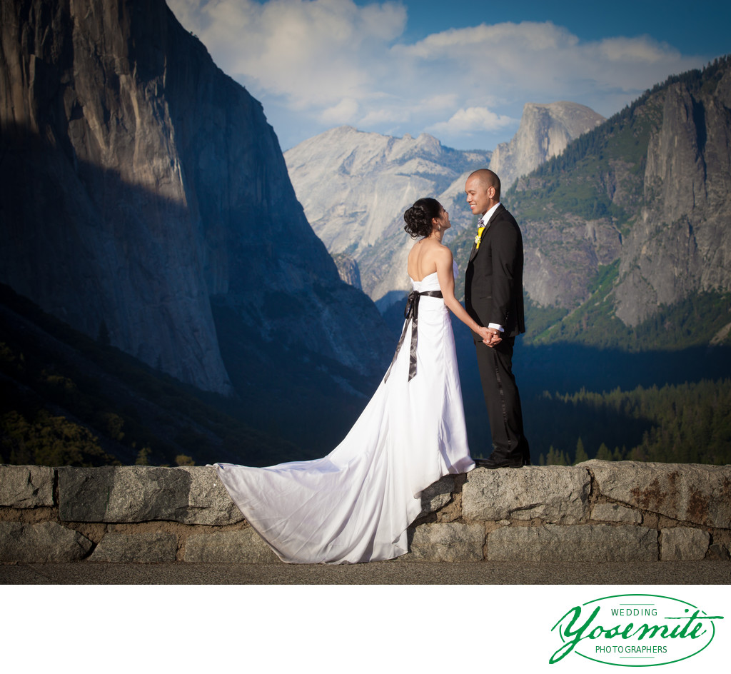 Tunnel View Wedding Couple