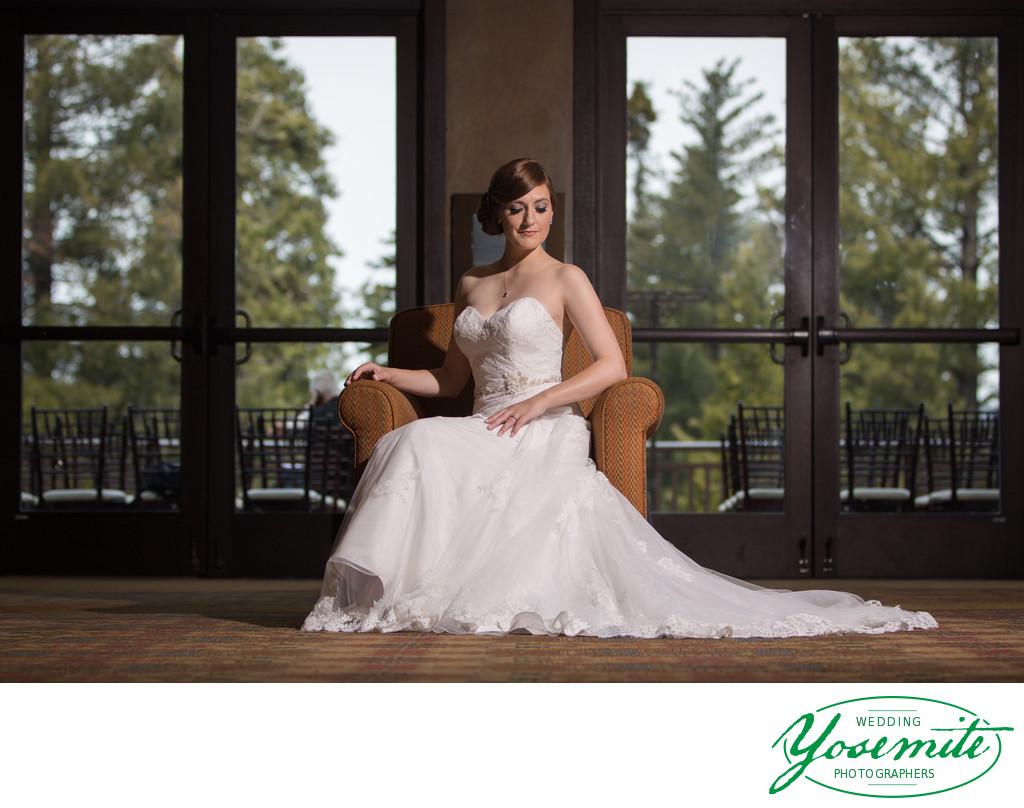 Beautiful Bridal Portrait at Tenaya Lodge