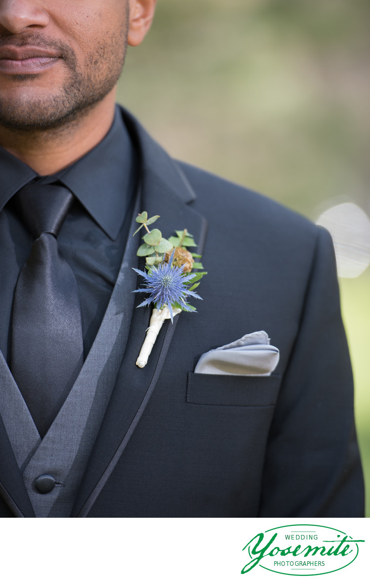 Groom's Boutonniere at Majestic Yosemite Hotel