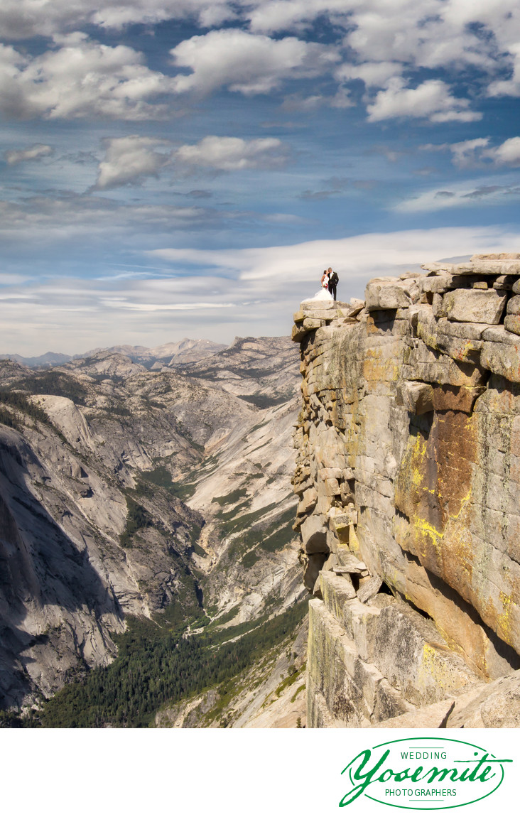 Couple married on top of half dome, Yosemite
