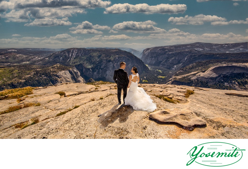 Just Married on Half Dome