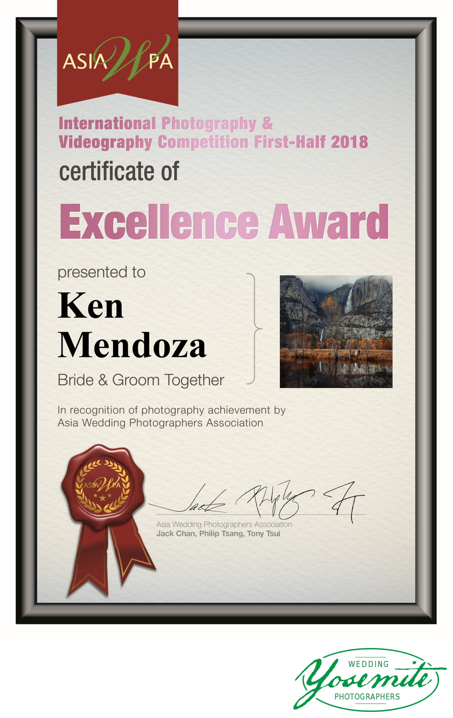 award winning Yosemite wedding photographer