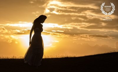 award winning sunset wedding photo