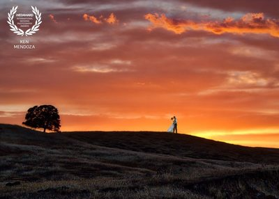 Sierra foothills wedding photo