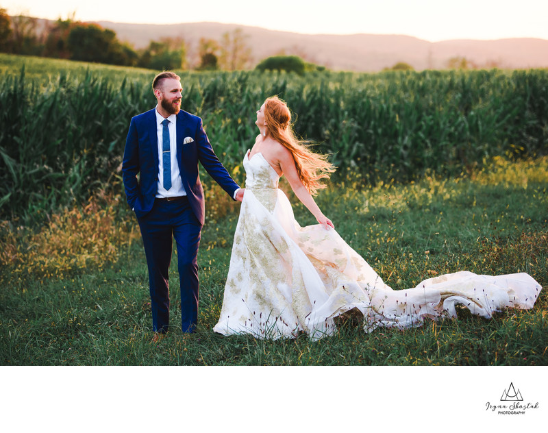 Wedding photography at Pioneer farm in Warwick