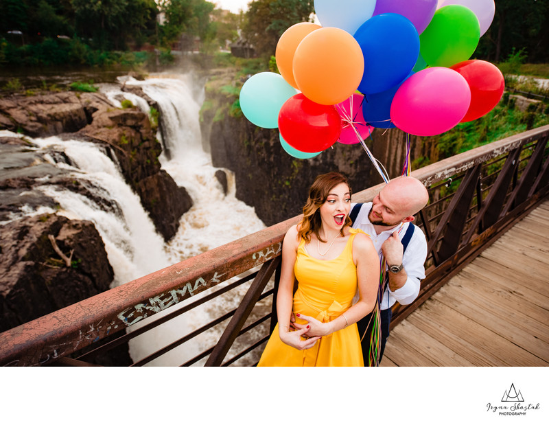 Paterson Great Falls engagement photo