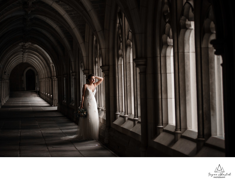 Wedding  portraits at Princeton University, New Jersey