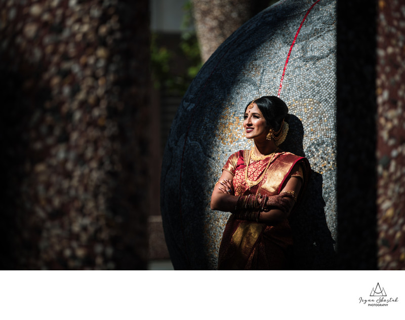 Indian bridal portrait Philadelphia Marriott Downtown