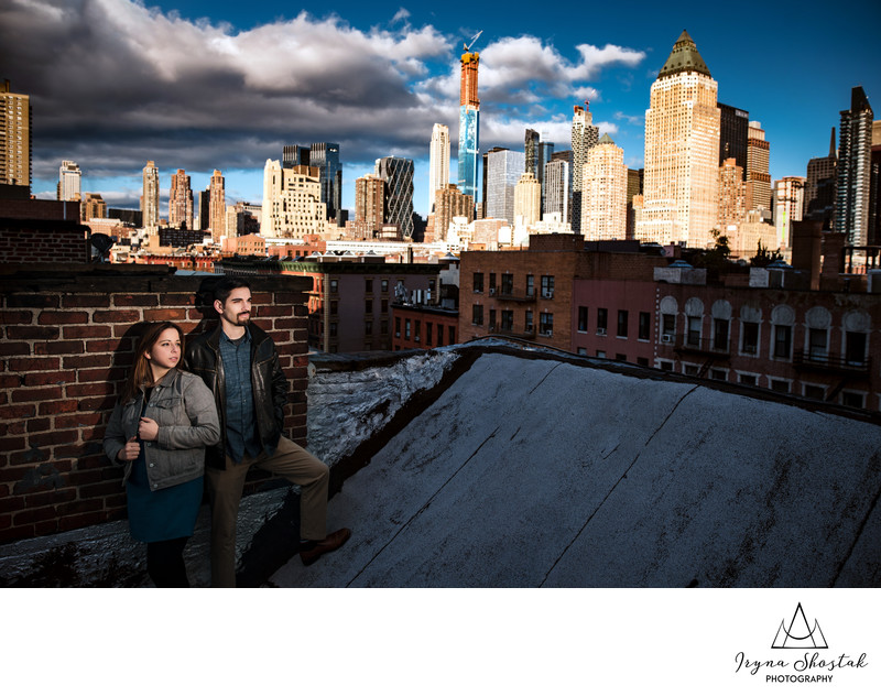 Manhattan engagement portraits