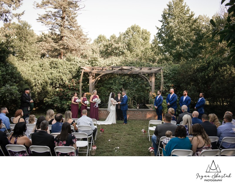 Outdoor Wedding Ceremony at Historic Belmont Hall