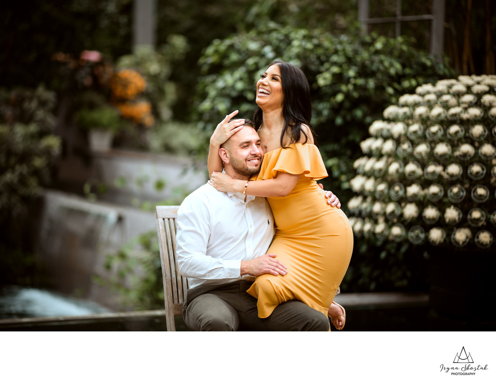 Longwood Gardens Engagement Photographer