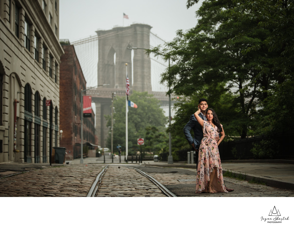 Dumbo Indian Engagement Photography