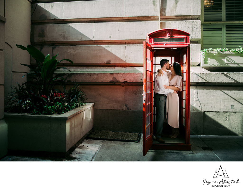 Broad Street Engagement Photography in Philadelphia