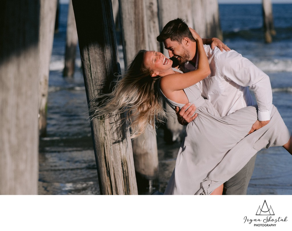 Beach Engagement Portraits in Ocean City