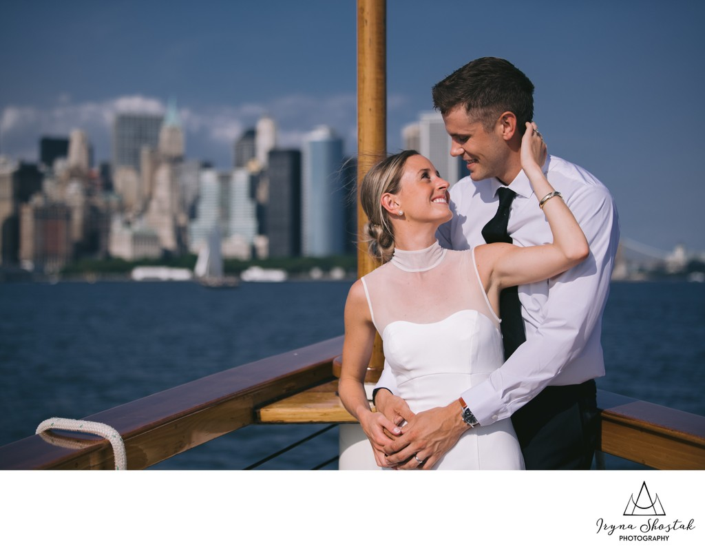 Hudson River Boat Intimate Wedding