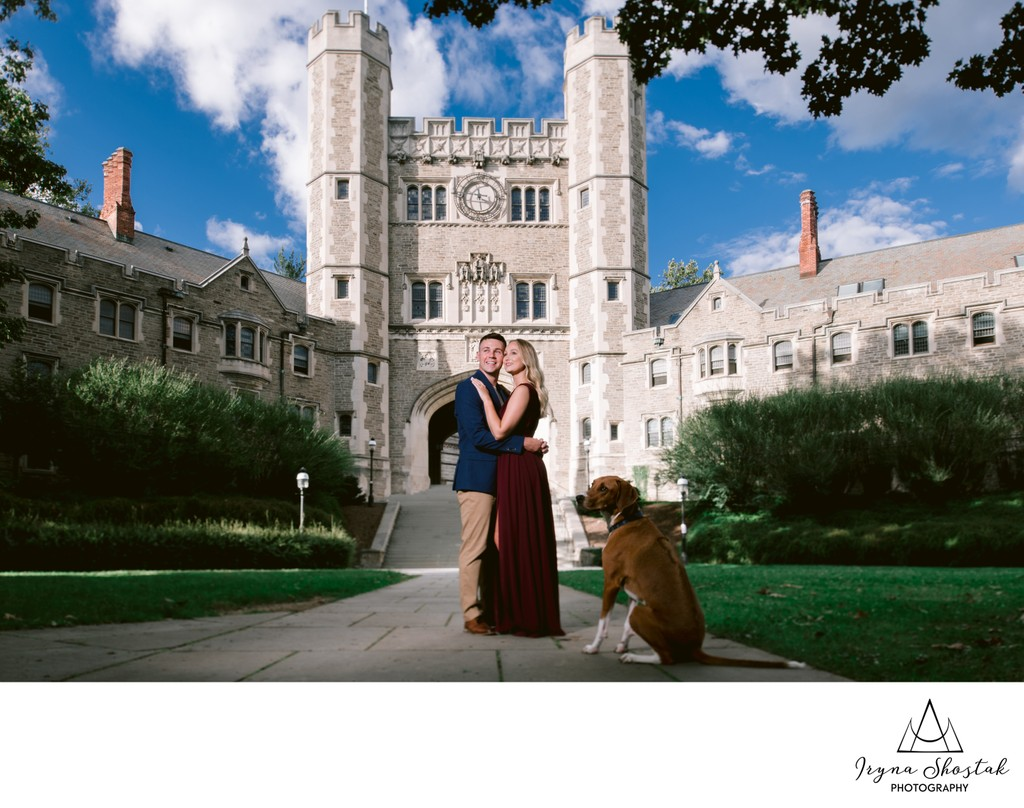 Princeton University Engagement Photography