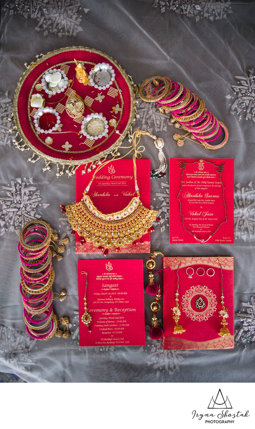 Indian bride wedding details