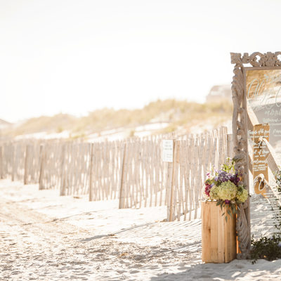 Beach wedding in Stone Harbor
