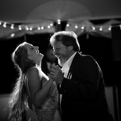 Father and daughter dance at Fernbrook Farms