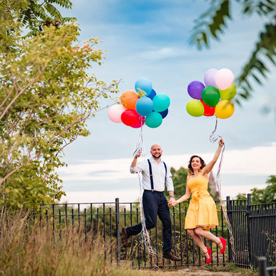 Fun engagement photography in Paterson