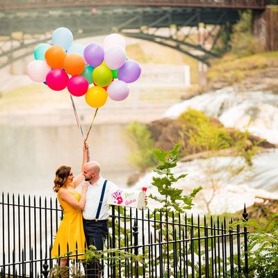 Engagement photos at Paterson Great Falls
