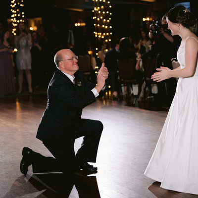 Father and daughter dance at Grand Ball room Normandy Farm