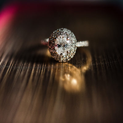 Engagement ring at Oheka Castle