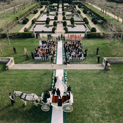 Wedding ceremony photography at Oheka Castle