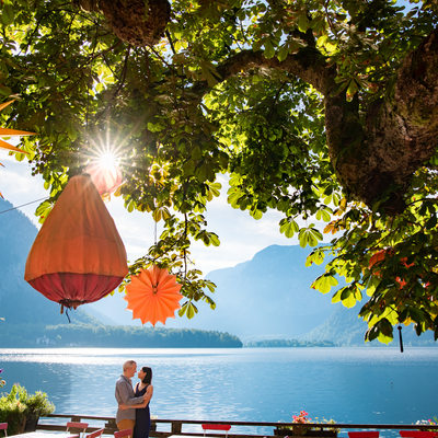 Hallstatt engagement portraits