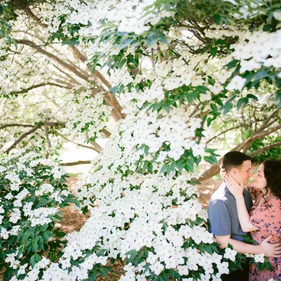 Rutgers Garden Engagement Photography