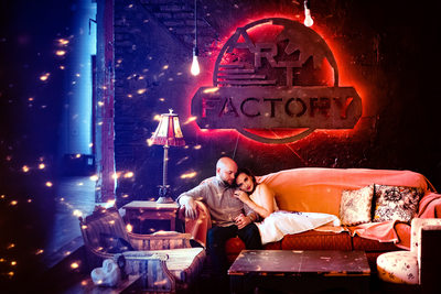Art Factory engagement photographer in Paterson