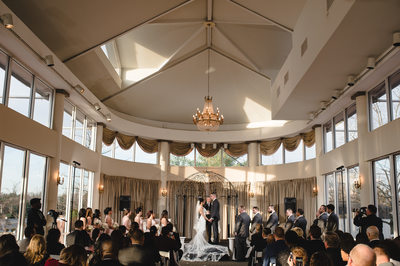 Wedding ceremony at The Mansion on Main Street